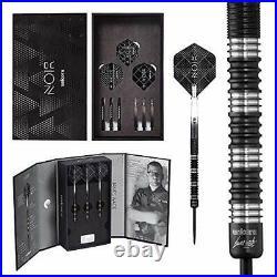 Unicorn Darts James Wade Noir 90 Percent Tungsten Steel Tip Dart, Black, 22 g