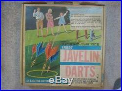 VINTAGE collectible 1968 Hasbro Javelin Darts In Original Box