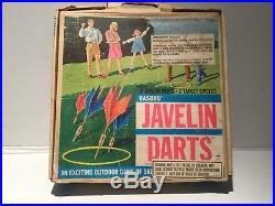 VINTAGE collectible 1968 Hasbro Javelin Darts In Original Box and instructions