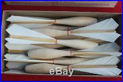 Vintage APEX Official No. 2 Tournament Throwing Darts Steel Tip Feathers
