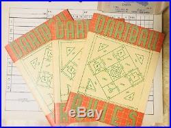 Vintage Apex No. 2 Darts Plus Vintage Rule Books And Score Cards Excellent Cond
