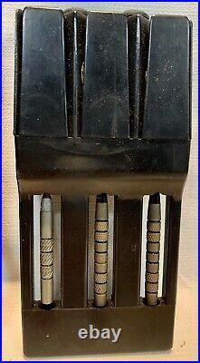 Vintage Dart Set With Case Unbranded With Shafts Budweiser Flights