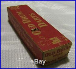 Vintage Darts Old Drum Whiskey Set Of 3 In Box Real Feathers Steel Tip Premium