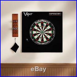 Viper Defender Ii Backboard & Sisal/Bristle Steel Tip Dartboard Bundle