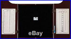 Viper Hudson Sisal/Bristle Steel Tip Dartboard Cabinet, Mahogany Finish