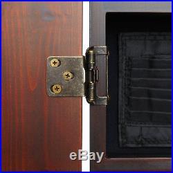 Viper Metropolitan Cinnamon Finish Sisal Bristle Steel Tip Dartboard Cabinet