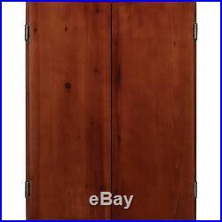 Viper Metropolitan Collection Steel Tip Dartboard Cabinet, Cinnamon
