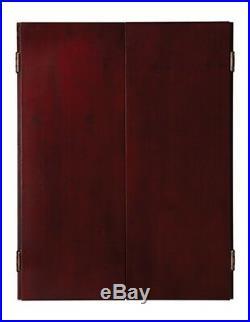 Viper Metropolitan Steel Tip Mahogany Dartboard Cabinet with FREE Shipping