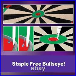 Viper Shot King Regulation Bristle Steel Tip Dartboard Set with Staple-Free B