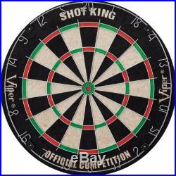 Viper Shot King Sisal/Bristle Steel Tip Dartboard with Staple-Free Bullseye and