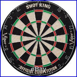 Viper Shot King Sisal Fiber Bristle Steel Tip Dartboard Official Sized 6 Darts