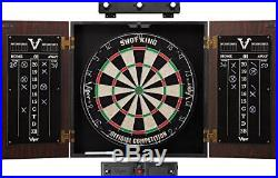 Viper Stadium Sisal/Bristle Steel Tip Dartboard & Cabinet Bundle Elite Set Shot