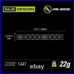 WINMAU Michael van Gerwen MVG ADRENALIN 90% Tungsten 22 G Steel Tip Darts 1441