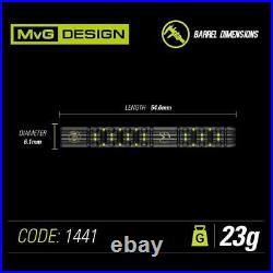 WINMAU Michael van Gerwen MVG ADRENALIN 90% Tungsten 23 G Steel Tip Darts 1441