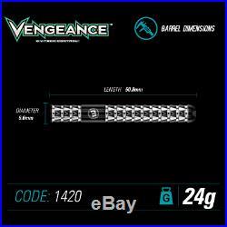 WINMAU Vengeance Steel Tip 90% Tungsten Alloy Darts 22g or 24 Gram