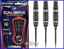 Winmau Calibra Darts Steel Tip 90% Tungsten Onyx Coating Matrix Grip Free P&P