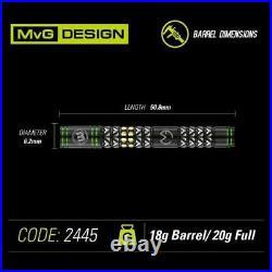 Winmau Mvg Vantage 90% Tungsten 20 Gram Soft Tip Darts 2445-20